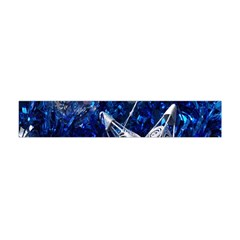 Christmas Silver Blue Star Ball Happy Kids Flano Scarf (mini) by Mariart