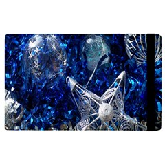 Christmas Silver Blue Star Ball Happy Kids Apple Ipad Pro 12 9   Flip Case by Mariart