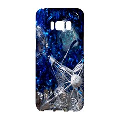 Christmas Silver Blue Star Ball Happy Kids Samsung Galaxy S8 Hardshell Case  by Mariart