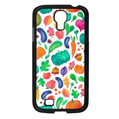 Pattern Autumn White Samsung Galaxy S4 I9500/ I9505 Case (black) by Mishacat