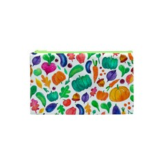 Pattern Autumn White Cosmetic Bag (xs) by Mishacat