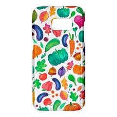 Pattern Autumn White Samsung Galaxy S7 Hardshell Case  by Mishacat