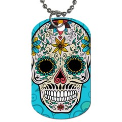 Sugar Skull New 2015 Dog Tag (two Sides) by crcustomgifts