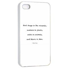 Inspirational Quote (arthur Young) Apple Iphone 4/4s Seamless Case (white) by DeneWestUK