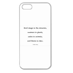 Inspirational Quote (arthur Young) Apple Seamless Iphone 5 Case (clear) by DeneWestUK