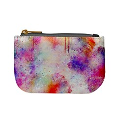 Watercolor Galaxy Purple Pattern Mini Coin Purses by paulaoliveiradesign