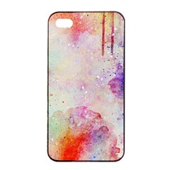 Watercolor Galaxy Purple Pattern Apple Iphone 4/4s Seamless Case (black) by paulaoliveiradesign