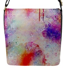 Watercolor Galaxy Purple Pattern Flap Messenger Bag (s) by paulaoliveiradesign