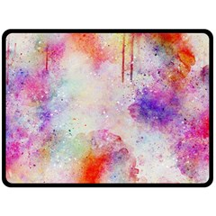 Watercolor Galaxy Purple Pattern Double Sided Fleece Blanket (large)  by paulaoliveiradesign