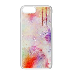 Watercolor Galaxy Purple Pattern Apple Iphone 7 Plus White Seamless Case by paulaoliveiradesign