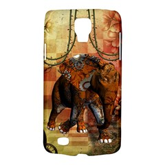 Steampunk, Steampunk Elephant With Clocks And Gears Galaxy S4 Active by FantasyWorld7