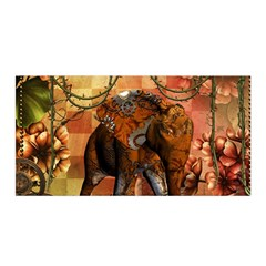 Steampunk, Steampunk Elephant With Clocks And Gears Satin Wrap by FantasyWorld7