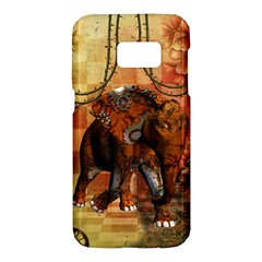 Steampunk, Steampunk Elephant With Clocks And Gears Samsung Galaxy S7 Hardshell Case  by FantasyWorld7
