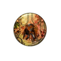 Steampunk, Steampunk Elephant With Clocks And Gears Hat Clip Ball Marker (10 Pack) by FantasyWorld7