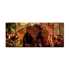 Steampunk, Steampunk Elephant With Clocks And Gears Hand Towel by FantasyWorld7