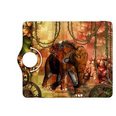 Steampunk, Steampunk Elephant With Clocks And Gears Kindle Fire Hdx 8 9  Flip 360 Case by FantasyWorld7