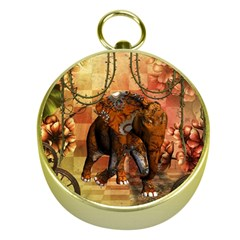 Steampunk, Steampunk Elephant With Clocks And Gears Gold Compasses by FantasyWorld7