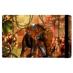 Steampunk, Steampunk Elephant With Clocks And Gears Apple Ipad Pro 12 9   Flip Case by FantasyWorld7