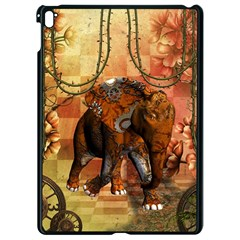 Steampunk, Steampunk Elephant With Clocks And Gears Apple Ipad Pro 9 7   Black Seamless Case by FantasyWorld7