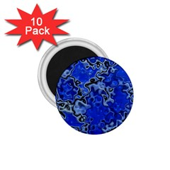 Wet Plastic, Blue 1 75  Magnets (10 Pack)  by MoreColorsinLife