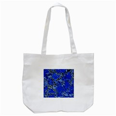 Wet Plastic, Blue Tote Bag (white) by MoreColorsinLife