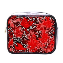 Wet Plastic, Red Mini Toiletries Bags by MoreColorsinLife