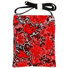 Wet Plastic, Red Shoulder Sling Bags by MoreColorsinLife