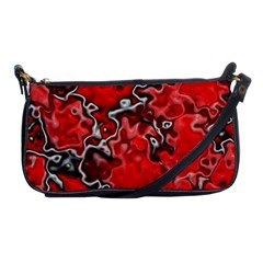Wet Plastic, Red Shoulder Clutch Bags by MoreColorsinLife