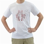 TH Paint - Fire Mokou  - Men s T-Shirt (White)