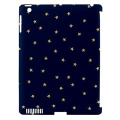 Navy/gold Stars Apple Ipad 3/4 Hardshell Case (compatible With Smart Cover)