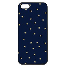 Navy/gold Stars Apple Iphone 5 Seamless Case (black) by Colorfulart23