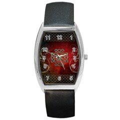 The Celtic Knot With Floral Elements Barrel Style Metal Watch by FantasyWorld7