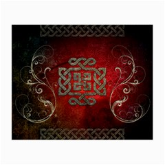 The Celtic Knot With Floral Elements Small Glasses Cloth (2 Side) by FantasyWorld7