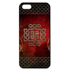 The Celtic Knot With Floral Elements Apple Iphone 5 Seamless Case (black) by FantasyWorld7