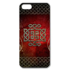 The Celtic Knot With Floral Elements Apple Seamless Iphone 5 Case (clear) by FantasyWorld7