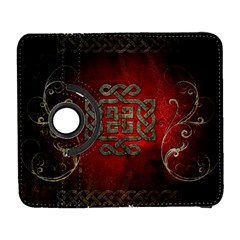 The Celtic Knot With Floral Elements Galaxy S3 (flip/folio) by FantasyWorld7
