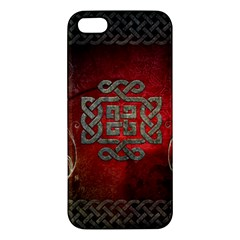 The Celtic Knot With Floral Elements Apple Iphone 5 Premium Hardshell Case by FantasyWorld7