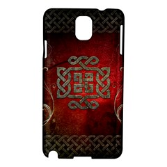 The Celtic Knot With Floral Elements Samsung Galaxy Note 3 N9005 Hardshell Case by FantasyWorld7