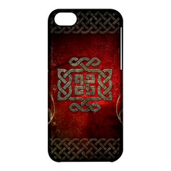 The Celtic Knot With Floral Elements Apple Iphone 5c Hardshell Case by FantasyWorld7