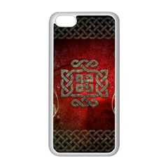 The Celtic Knot With Floral Elements Apple Iphone 5c Seamless Case (white) by FantasyWorld7