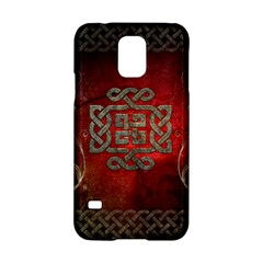The Celtic Knot With Floral Elements Samsung Galaxy S5 Hardshell Case  by FantasyWorld7