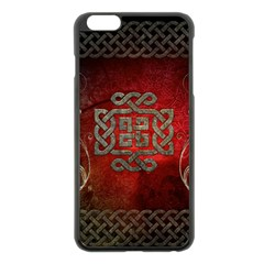 The Celtic Knot With Floral Elements Apple Iphone 6 Plus/6s Plus Black Enamel Case by FantasyWorld7