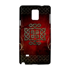 The Celtic Knot With Floral Elements Samsung Galaxy Note 4 Hardshell Case by FantasyWorld7