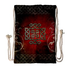 The Celtic Knot With Floral Elements Drawstring Bag (large) by FantasyWorld7