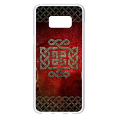 The Celtic Knot With Floral Elements Samsung Galaxy S8 Plus White Seamless Case by FantasyWorld7