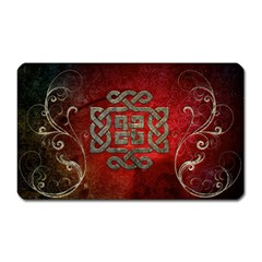 The Celtic Knot With Floral Elements Magnet (rectangular) by FantasyWorld7
