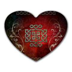 The Celtic Knot With Floral Elements Heart Mousepads by FantasyWorld7