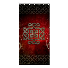 The Celtic Knot With Floral Elements Shower Curtain 36  X 72  (stall)  by FantasyWorld7