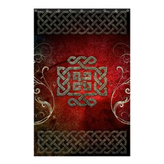 The Celtic Knot With Floral Elements Shower Curtain 48  X 72  (small)  by FantasyWorld7