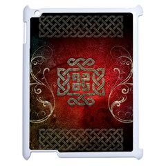 The Celtic Knot With Floral Elements Apple Ipad 2 Case (white) by FantasyWorld7